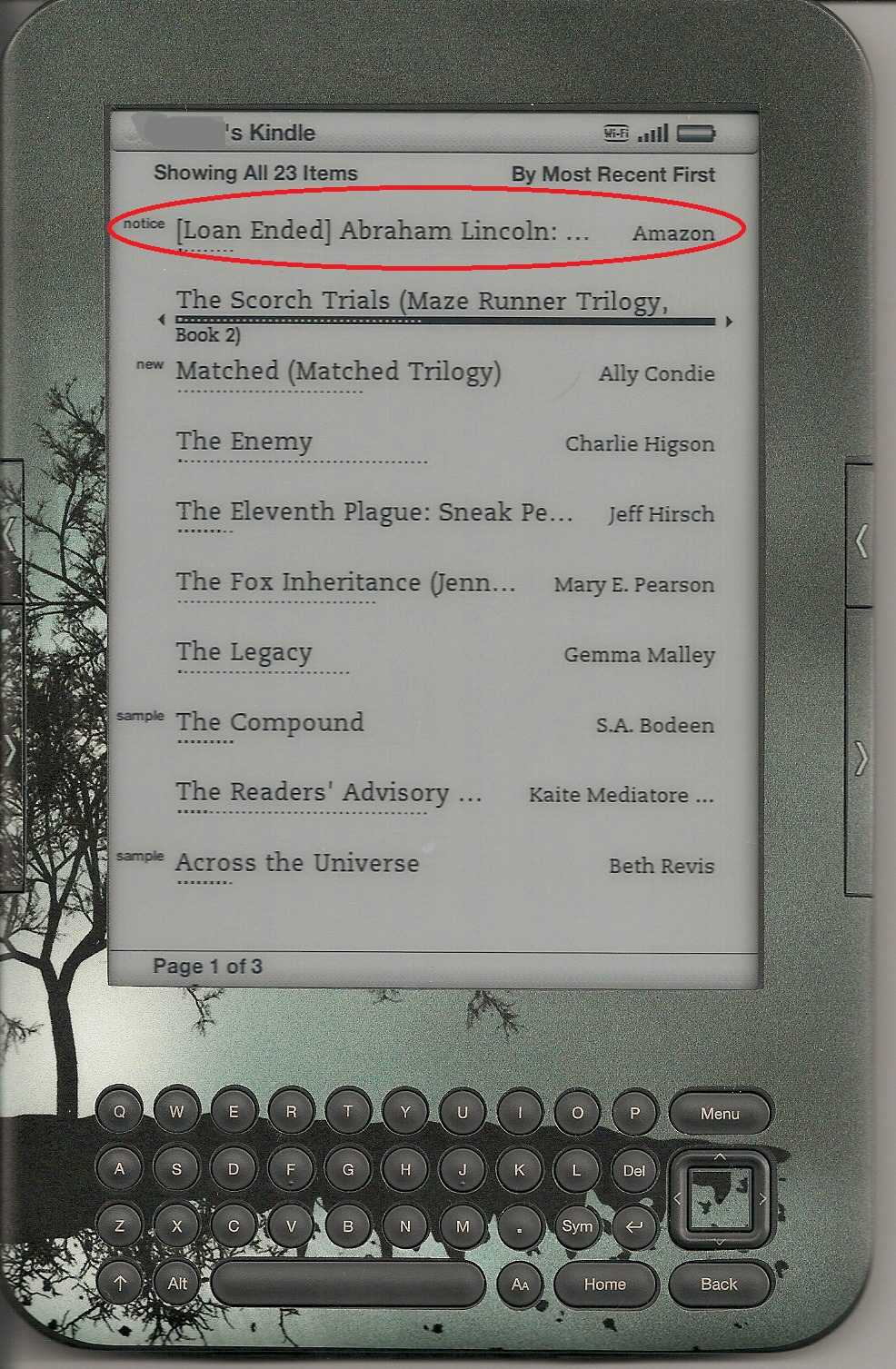MARKED E-BOOKS FROM LIBRARY EPUB