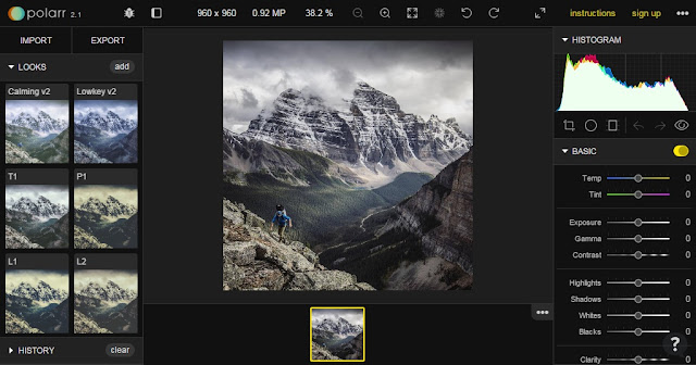 Edit Foto Online Polarr