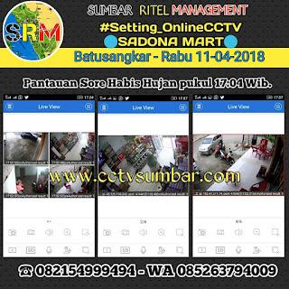 Setting Online CCTV pada SADONA MART di Batusangkar