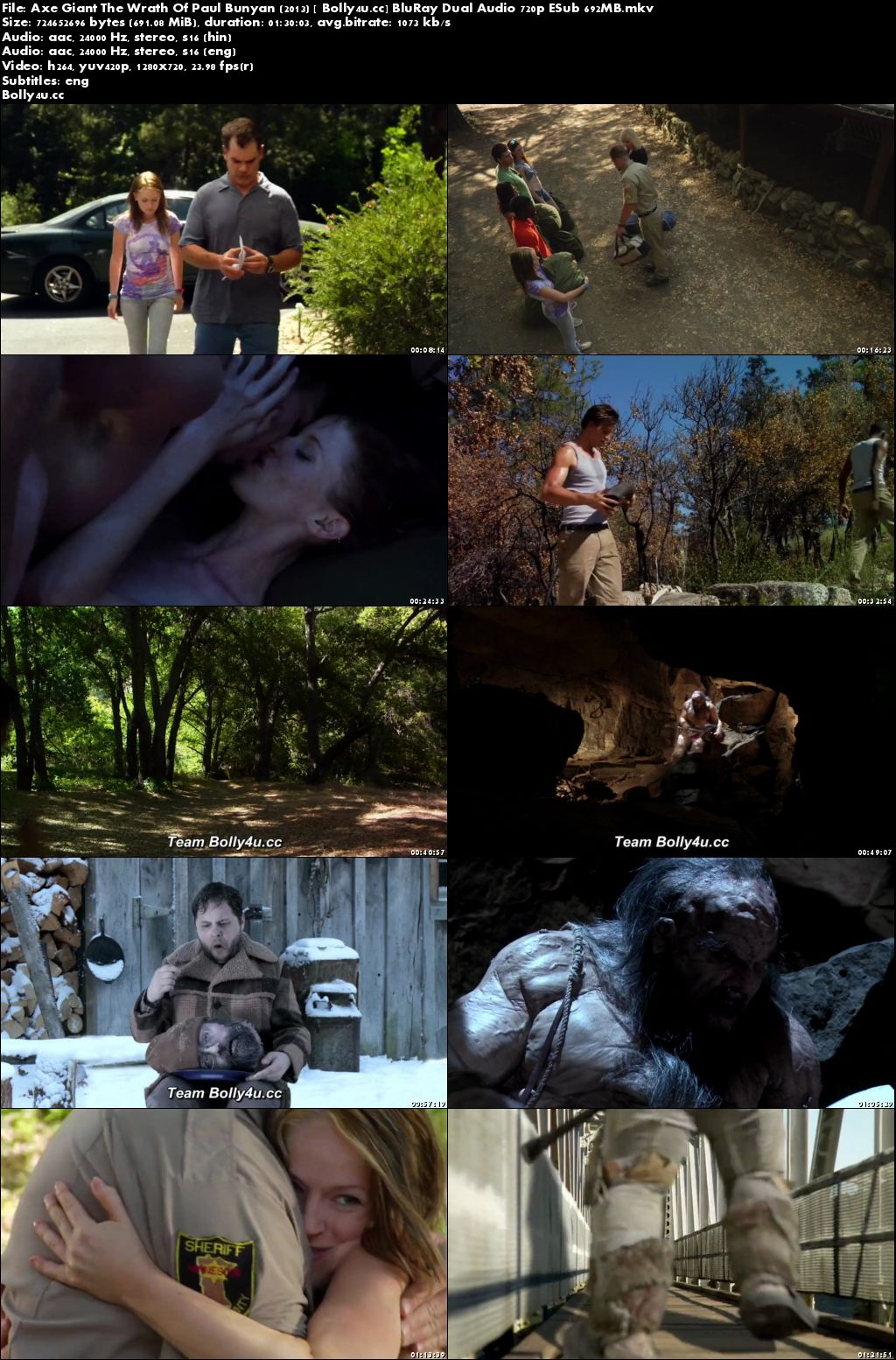 Axe Giant The Wrath Of Paul Bunyan 2013 BRRip 700MB Hindi Dual Audio 720p Download
