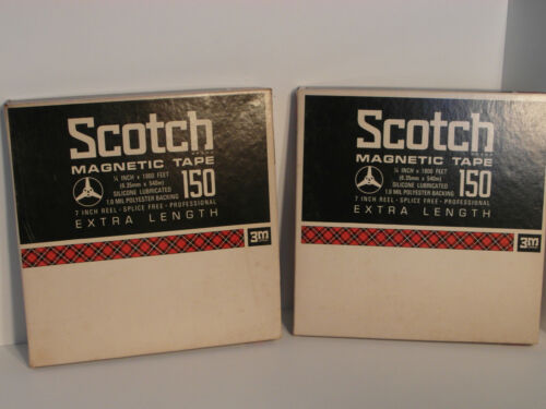 60's SCOTCH MAGNETIC TAPES