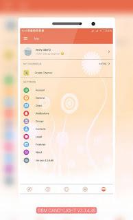 BBM Mod Candy Light v3.3.4.48 Clone dan Unclone Apk Terbaru