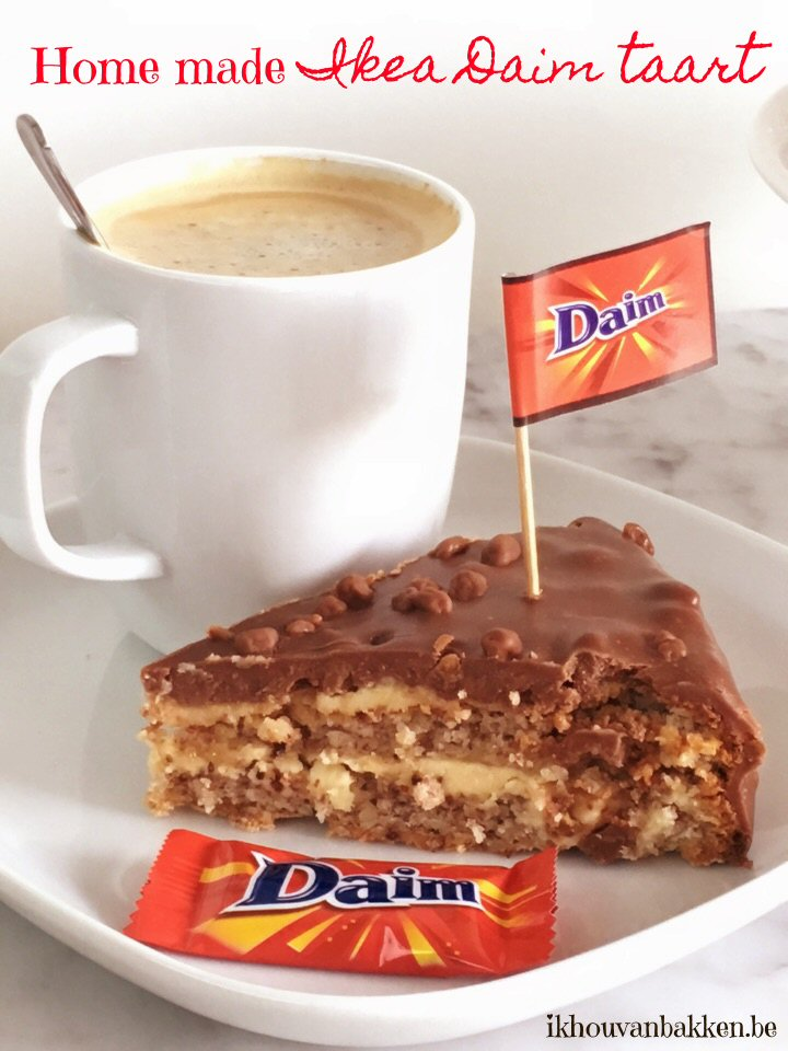 daim taart Ik hou van bakken: Home made Ikea Daim taart (glutenvrij) daim taart
