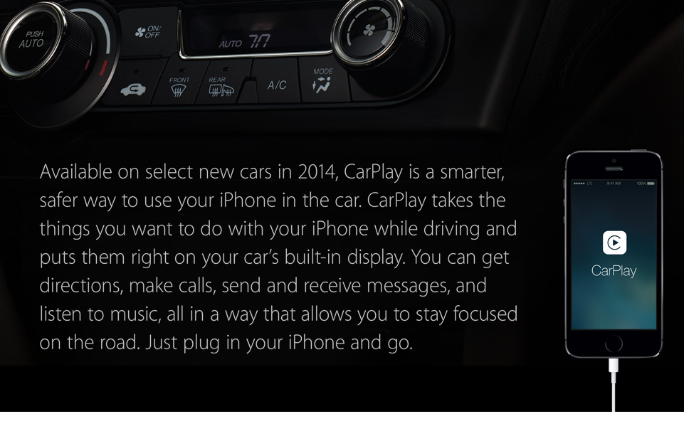 CarPlay Plug with New iOS 7.1 update in 2014