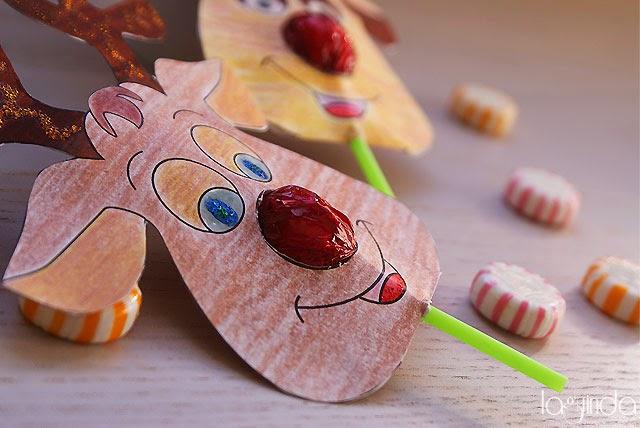 navidad reno chupa-chups christmas reindeer lollipop