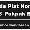 Kode Plat Nomor Kendaraan Dairi & Pakpak Bharat