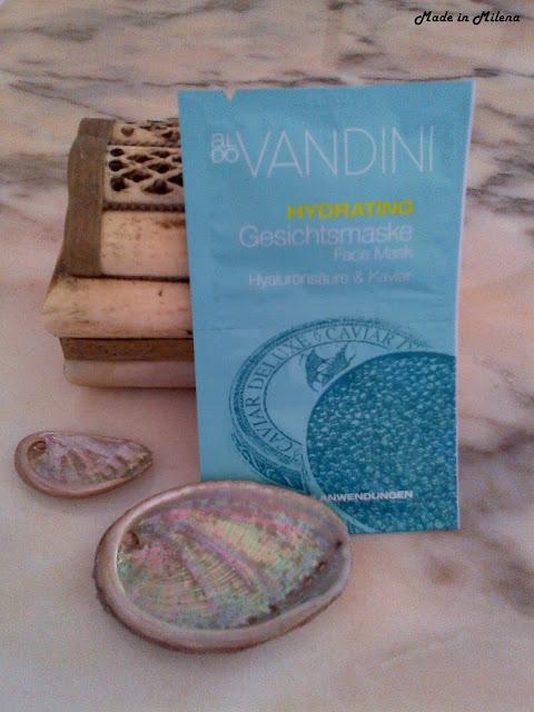 mascarilla facial vandini con ácido hialurónico y caviar