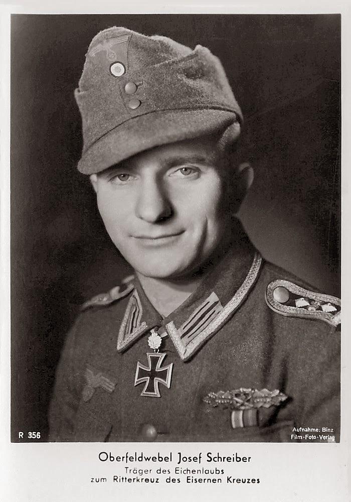 Josef Schreiber Ritterkreuzträger Knight Cross Holder Postcard