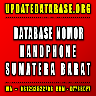 Jual Database Nomor Handphone Sumatera Barat