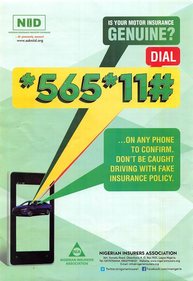 [*565*11#]: NIID genuine codes to check your car insurance