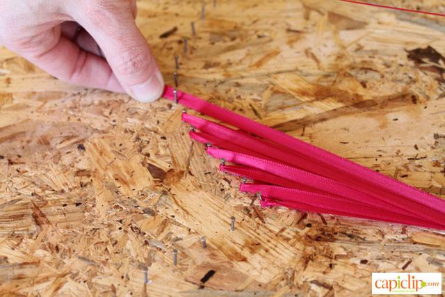 Capclip String Art con cintas y todo el amor