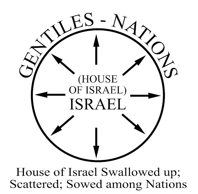 image of The House of Israel scattered, swallowed up by nations