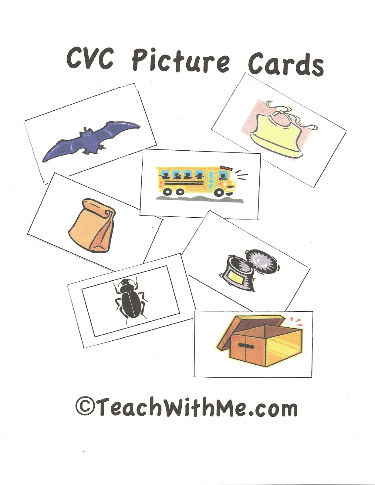 Cvc Word Amp Picture Cards