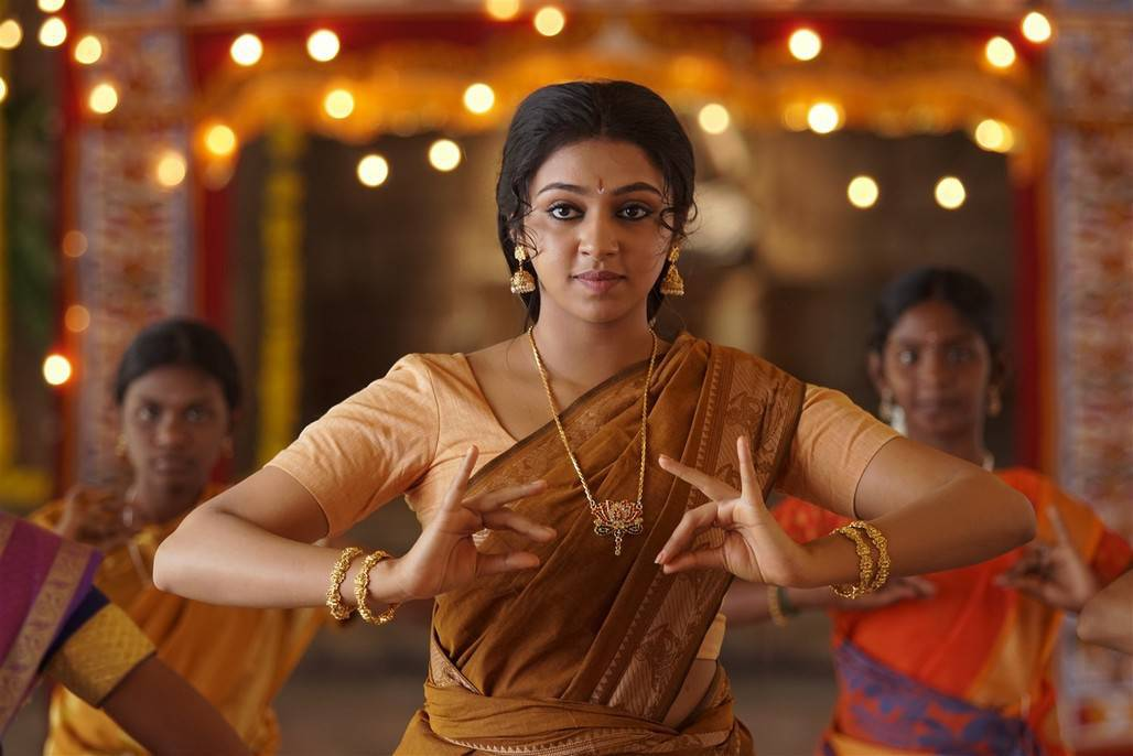 Glamours Tamil Girl Lakshmi Menon Photos In Yellow Lahenga Voni Half Sari