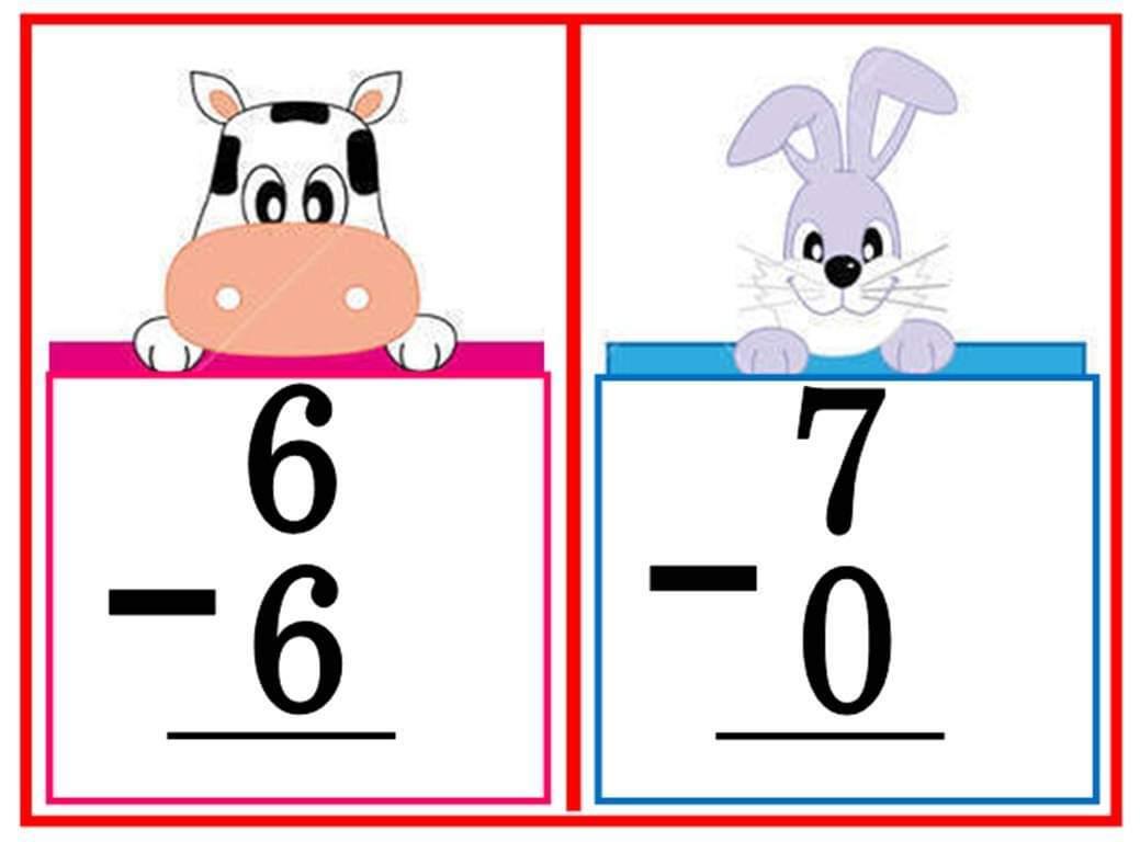 Teacher Fun Files Subtraction Flashcard 3