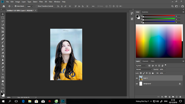 Hưỡng dẫn tách phông chuyên nghiệp bằng photoshop cc 2019