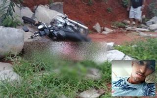 Jovem morre em acidente