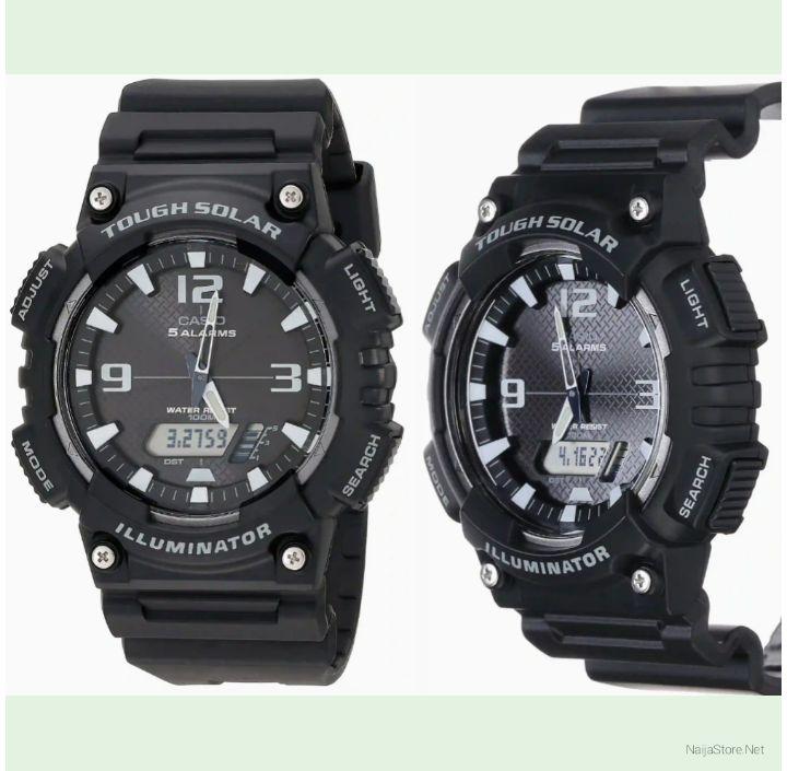 Men's Casio Watch: Solar-Powered Wristwatch with Digital and Analog Display - AQ-S810W