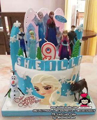 Birthday Cake Frozen Elsa Anna Olaf
