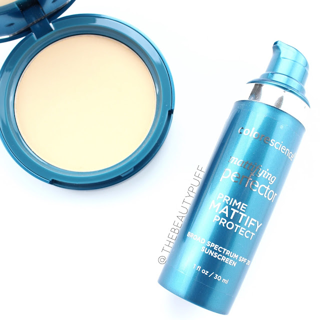 colorescience foundation and primer   the beauty puff