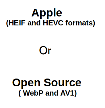 Apple or Open source fformat for photographers