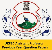 UKPSC Assistant Professor Previous Year Question Papers