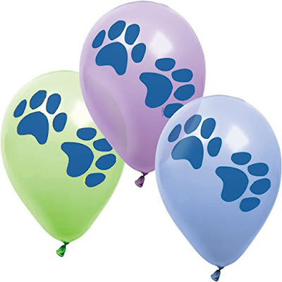 Paw Print Balloons for you DIsney Puppy Dog Pals party