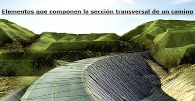 Elementos que componen la sección transversal de un camino