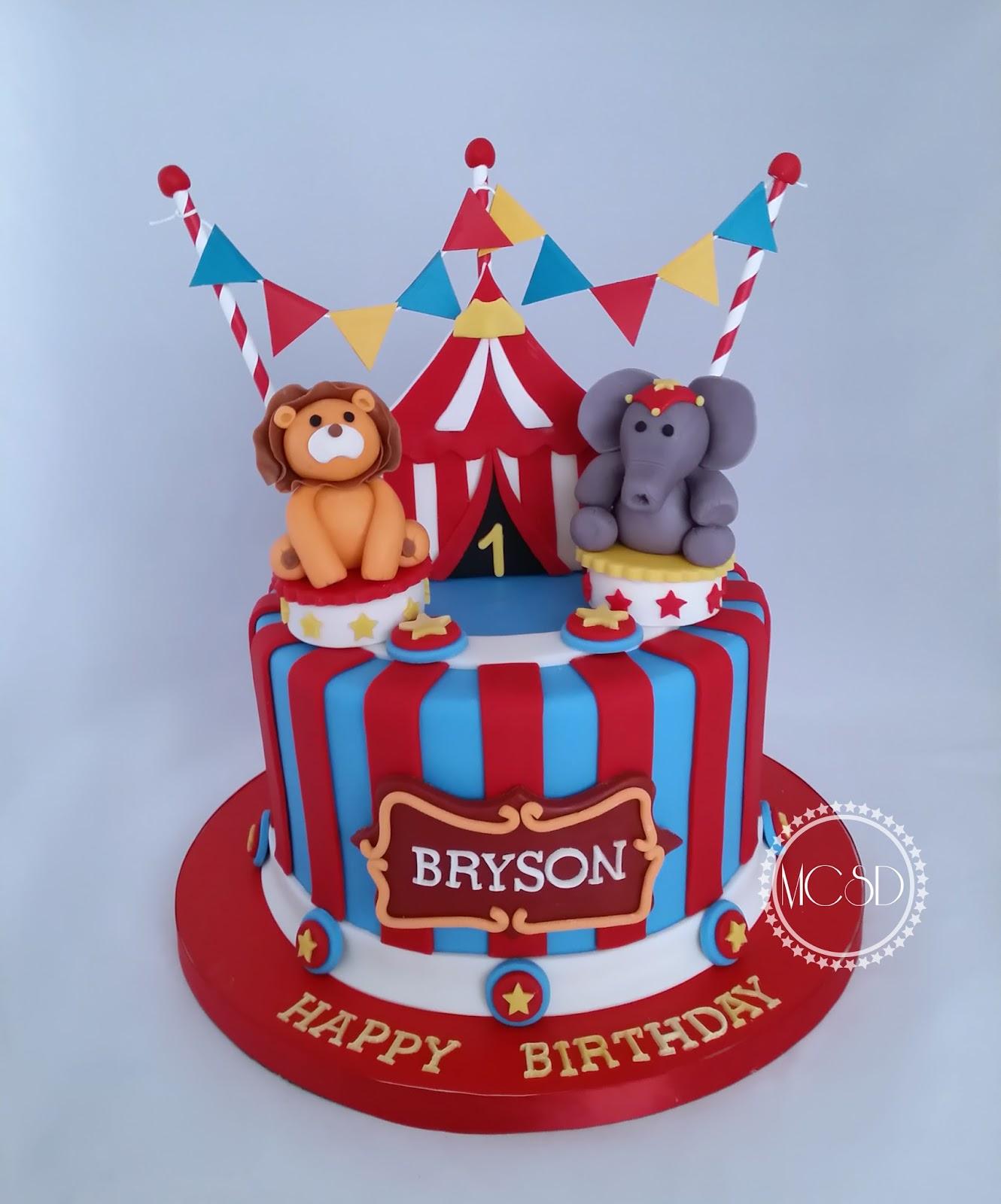 Mycakesweetdreams Carnival Circus 1st Birthday Cake