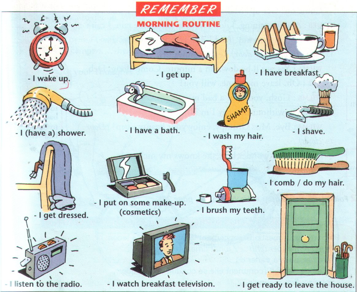 Our English Corner Daily Routines