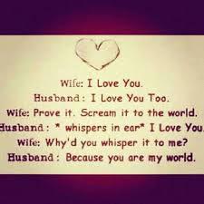 wife: i love you. husband: i love you too.