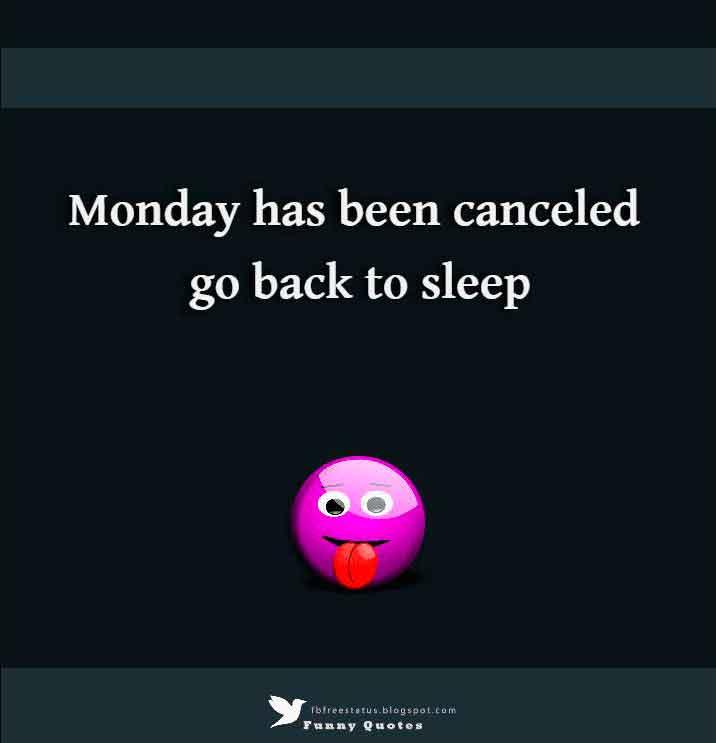 Monday has been canceled go back to sleep