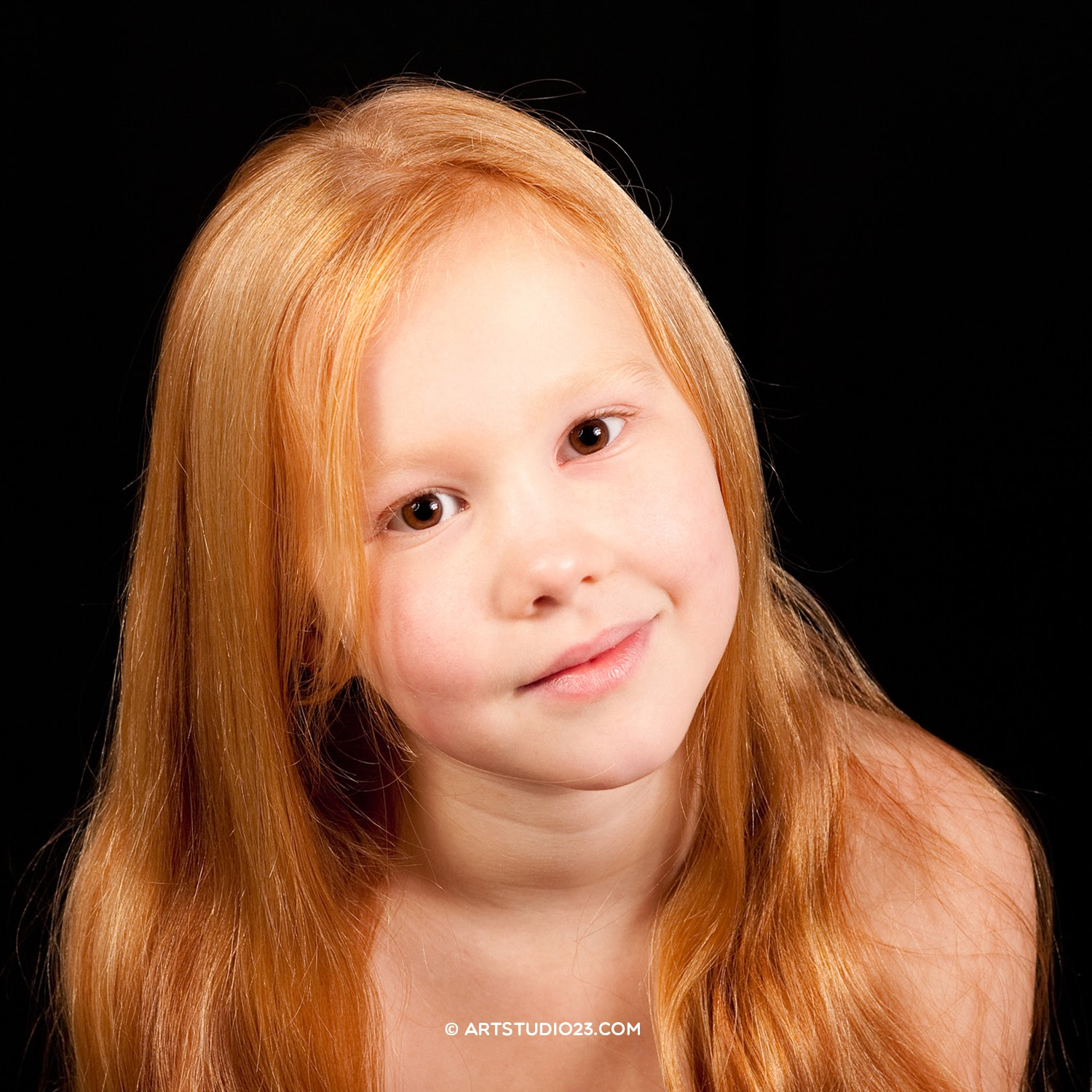 Redhead photo portrait