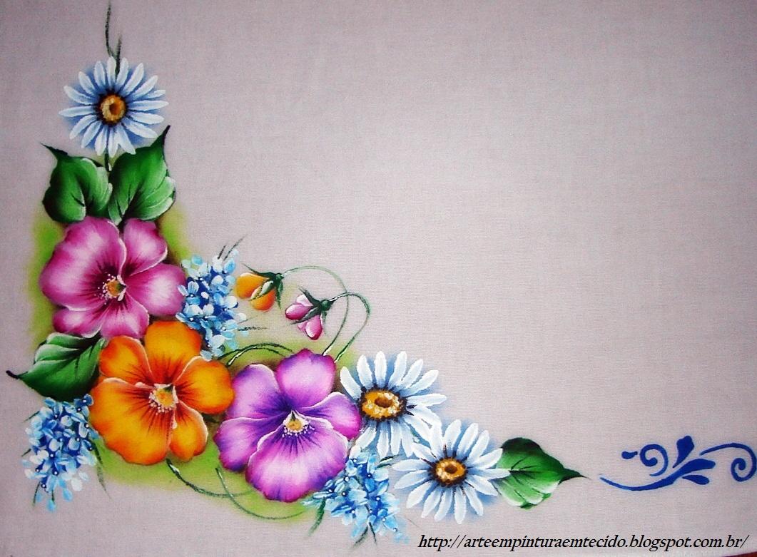 Pintura em tecido como fazer passo a passo riscos e - Decorarte pinturas ...