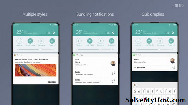 notification shade miui 9 update