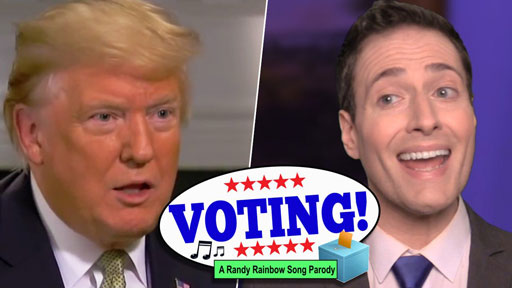 Just in time for the midterm elections, political satirist Randy Rainbow shares a 'Wicked' election eve reminder.