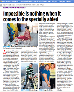 Deccan Herald highliting abilities of disabled