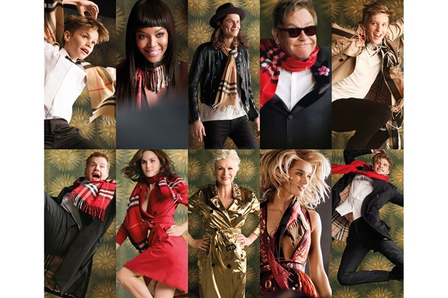Burberry Holiday 2015 Campaign features a star studded cast