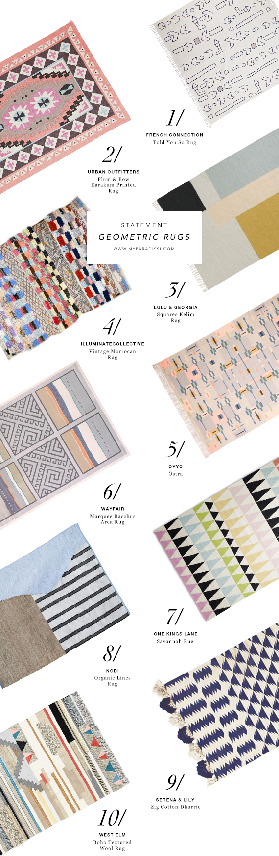 10 geometric rugs that WOW | My Paradissi