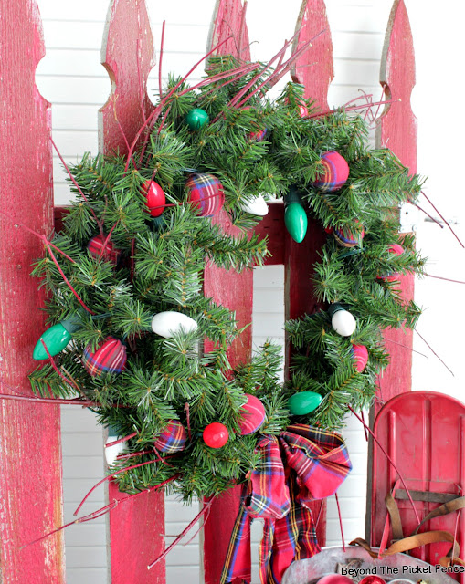 upcycle a thrift store wreath to make a rustic christmas wreath