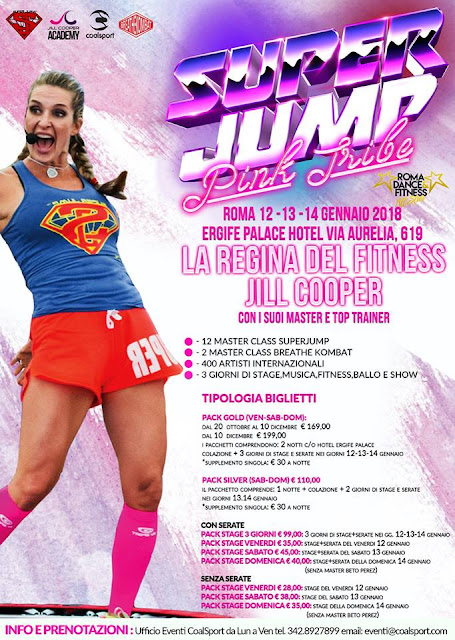 Superjump Pink Tribe 2018, 12-13-14 gennaio 2018 a Roma