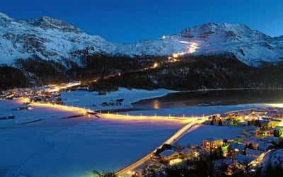 Горнолыжный курорт Санкт-Мориц в Швейцарии