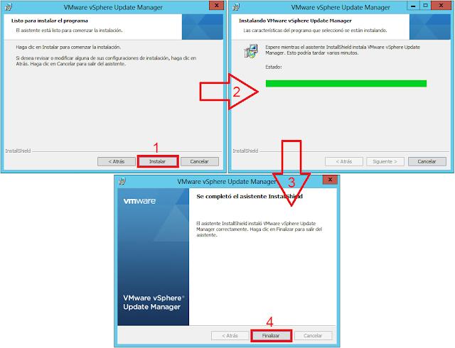 Instalación VMware vSphere Update Manager.