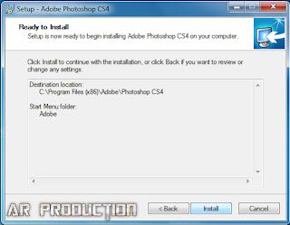 Pemasangan Adobe Photoshop CS4 Lite tahap akhir