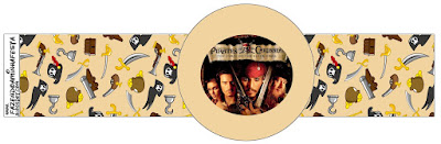 Pirates of the Caribbean Free Printable Napkin Rings