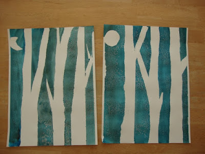 birch tree paintings