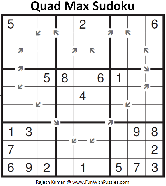 Quad Max Sudoku (Fun With Sudoku #158)