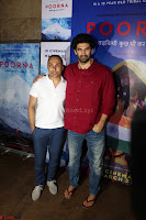 Aditya Roy Kapoor with Star Cast of MOvie Poorna.JPG (6) Red Carpet of Special Screening of Movie Poorna ~ .JPG