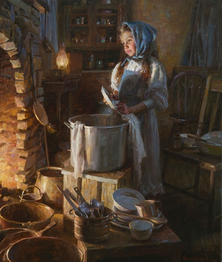 "by Morgan Weistling, ""The Dishwasher"" - oil 