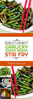 World's Easiest Garlicky Green Beans Stir Fry found on KalynsKitchen.com